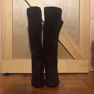 Pennington's Wide Stretch Calf Purple Tall Boots